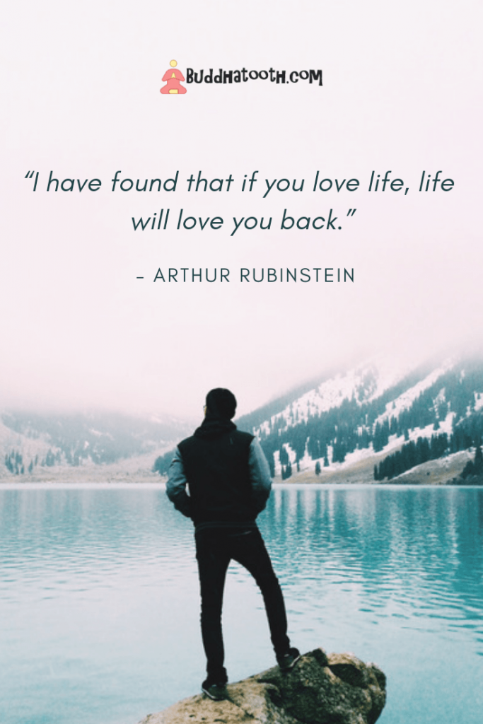 uplifting quote about loving life