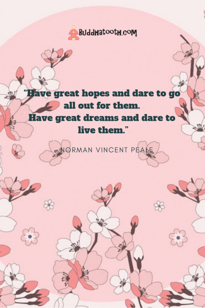 inspirational words about dreams